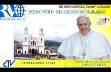 Incontro con il Clero nel Santuario Mariano El Quinche REPLAY-TV mercoledì 8 luglio 2015 ore 17:20
