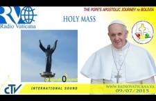 Santa Messa nella piazza del Cristo Redentore REPLAY-TV giovedì 9 luglio 2015 ore 15:45