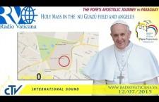 Santa Messa nel campo grande di Ñu Guazú REPLAY WEB-TV domenica 12 luglio 2015 ore 15:50