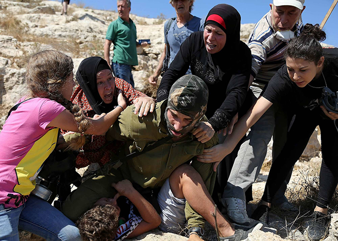 ISRAELI LAND EXPROPRIATION PROTESTED, RAMALLAH