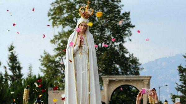 Siria: pellegrinaggio della statua della Madonna di Fatima