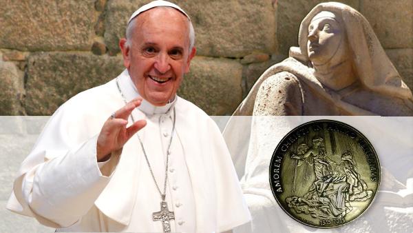 Nella medaglia pontificia l'immagine di Teresa d'Avila