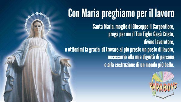 Con Maria preghiamo per il lavoro