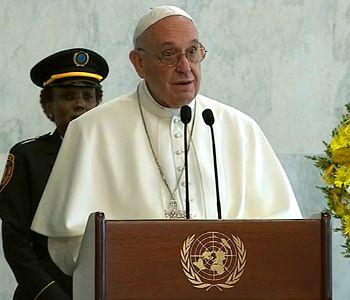 Il saluto di Papa Francesco allo staff e al personale dell'Onu