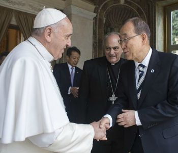 Ban Ki-moon alla Radio Vaticana: all'Onu aspettiamo le parole del Papa