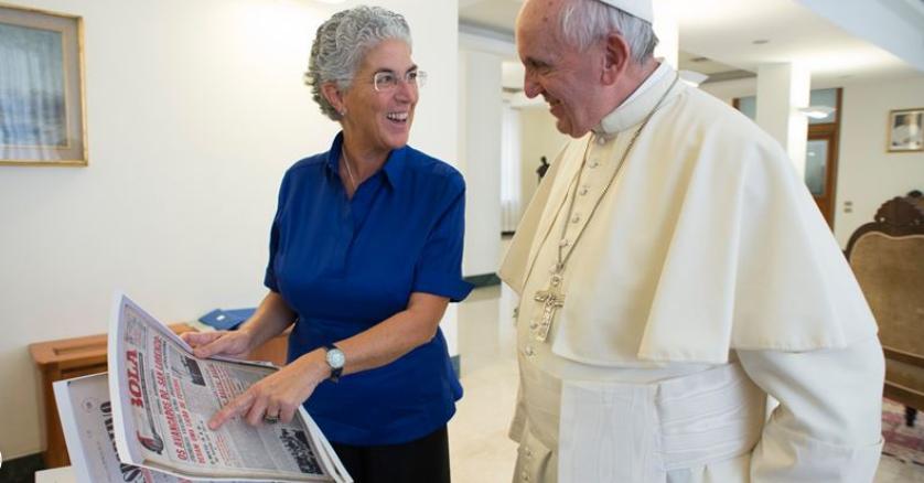 Intervista di Aura Miguel a Papa Francesco per Rádio Renascença