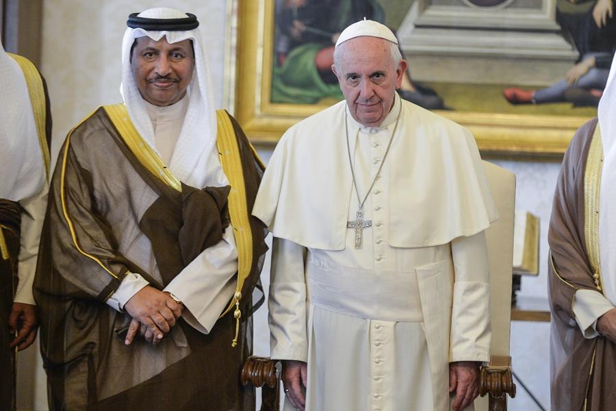 Papa Francesco incontra il premier del Kuwait: promuovere rispetto tra religioni