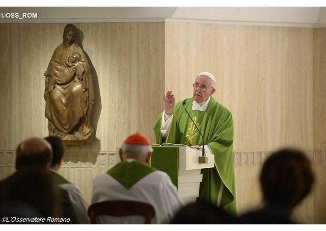 Papa Francesco: Nella Chiesa c'è una malattia: quella di seminare divisione e zizzania.