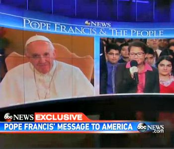 Il Papa alla studentessa malata: Per favore, canta per me. L'America si commuove