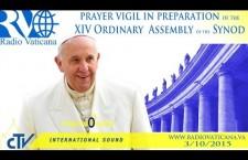 Veglia per il Sinodo della Famiglia. Sabato 3 Ottobre 2015 dalle ore 17:55 – Papaboys REPLAY WEB-TV