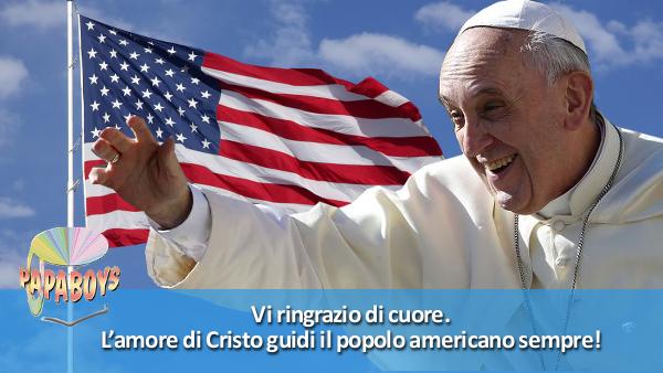 Tweet di Papa Francesco: L'amore di Cristo guidi il popolo americano sempre!