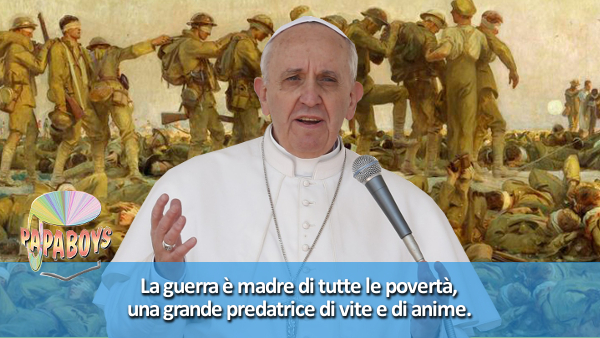 Tweet di Papa Francesco: La guerra è madre di tutte le povertà.