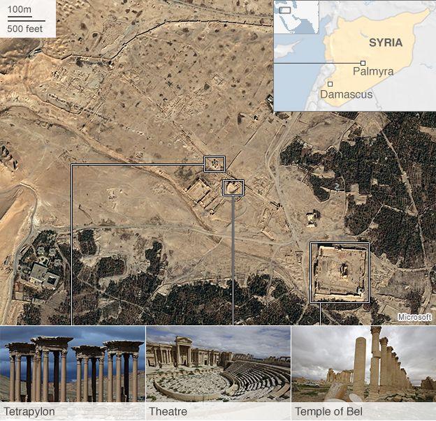 Caccia russi bombardano Palmira
