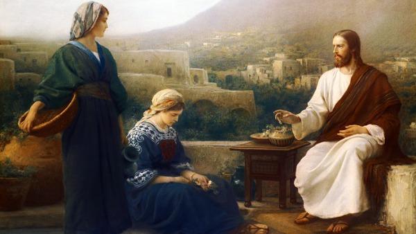 #Vangelo: Marta lo ospitò. Maria ha scelto la parte migliore.