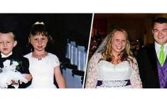 Paggetto e damigella al matrimonio, 17 anni dopo si sposano nella stessa chiesa