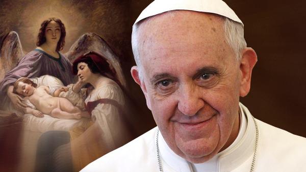 Papa Francesco: ognuno ha un Angelo accanto, ascoltiamolo docilmente