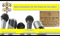 Conferenza stampa sull'apertura del Sinodo. Lunedì 5 Ottobre 2015 ore 13:00 – Papaboys REPLAY WEB-TV