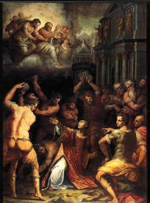 Martirio di Santo Stefano, dipinto di Pietro da Cortona (1660, attualmente conservato all'Ermitage)