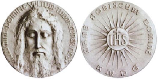 La medaglia del Volto Santo di Gesù, molto conosciuta nella devozione popolare