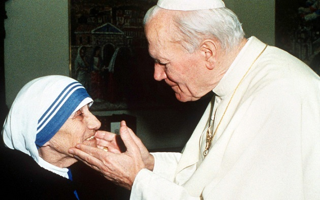 Papa Giovanni Paolo II con Madre Teresa