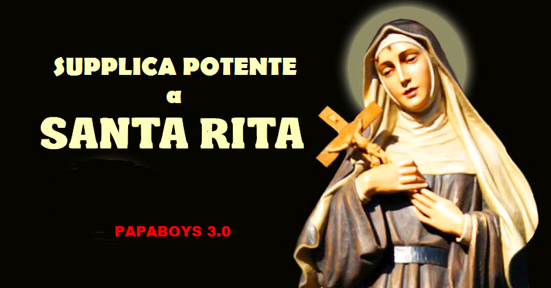 santa rita papaboys supplica