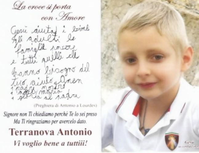 Antonio Terranova Un Angioletto Biondo Di Soli 8 Anni Volato Nel