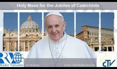 S. Messa di Papa Francesco per il Giubileo dei Catechisti 25 Settembre REPLAY TV