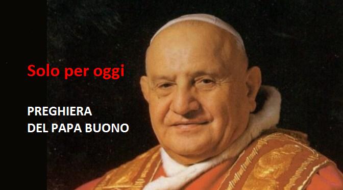 Una preghiera scritta dal 'Papa buono'
