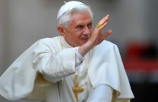 Pope Benedict XVI waves to faithful as he arrives for his weekly general audience on April 20, 2011 at St Peter's square at The Vatican.  AFP PHOTO / ANDREAS SOLARO (Photo credit should read ANDREAS SOLARO/AFP/Getty Images)