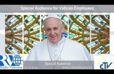 Udienza speciale di Papa Francesco per i Dipendenti Vaticani 22 Dicembre REPLAY TV