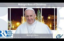 Santa Messa di Papa Francesco nella Notte di Natale Sabato 24 dicembre REPLAY TV