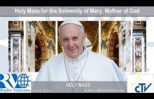 Messa di Papa Francesco nella solennità di Maria Madre di Dio 1 gennaio 2017 REPLAY TV