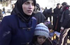This image made from video released by Qasioun News Agency, a media opposition platform with reporters inside Syria, shows Fatemah Alabed, with her 7-year-old daughter Bana, speaking after they reached the Aleppo countryside following the evacuation of their city, Syria. They spoke to the cameras about their evacuation and their widely-distributed Twitter account. The mother and daughter pair maintained a Twitter account from inside east Aleppo that exposed the horrors of the government's siege of the rebel enclave in the city. (Qasioun News Agency via AP)