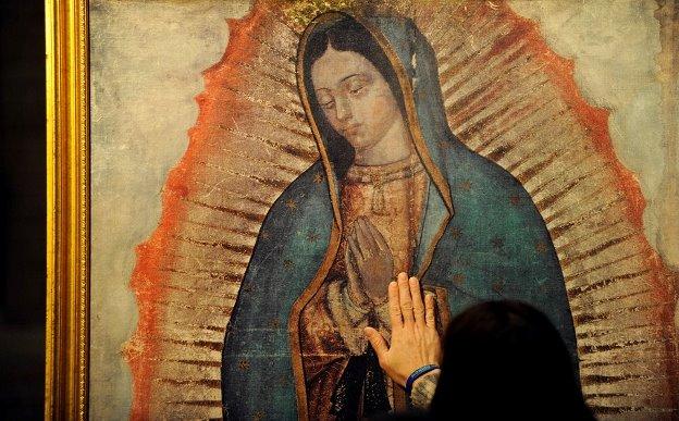La-Tilma-mantello-di-fibra-dagave-di-Guadalupe-Città-del-Messico-Santuario