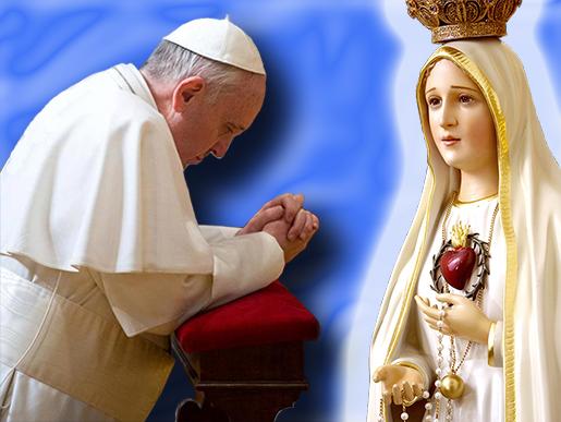 Risultati immagini per papa francesco fatima
