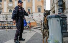 Enhanced security measures in Campidoglio Square ahead of the EU summit commemorating the 60th anniversary of the Treaty of Rome, in Rome, Italy, 24 March 2017. EU leaders are gathering in Rome for a summit to mark the EU's 60th anniversary and to outline its future after Britain leaves. ANSA/ ALESSANDRO DI MEO