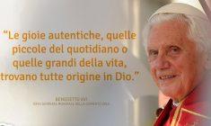 Una profonda riflessione di Benedetto XVI sulla vita eterna, da non perdere