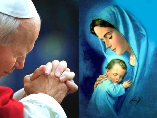 Giovanni Paolo e la Madonna