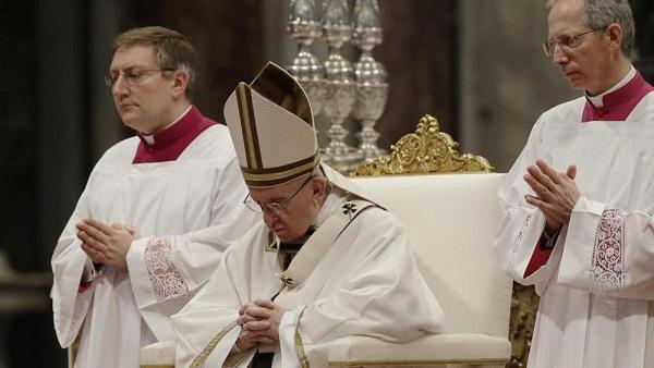 Papa Francesco nella Cena Domini