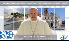 """Celebrazione di Papa Francesco in memoria dei """"Nuovi Martiri"""" Sabato 22 Aprile REPLAY TV"""