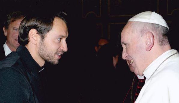 Don Davide Banzato con Papa Francesco