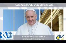 Udienza Generale con Papa Francesco. Mercoledì 24 Maggio 2017 REPLAY TV