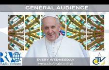 Udienza Generale con Papa Francesco. Mercoledì 31 Maggio 2017 REPLAY TV