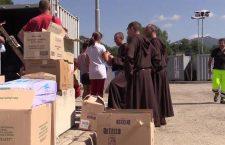 Frati Francescani: il nostro convento fra i container del terremoto