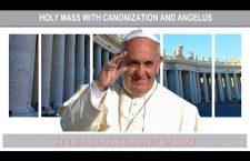 S. Messa di Papa Francesco con canonizzazioni e Angelus – Domenica 15 Ottobre – REPLAY TV