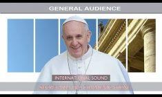 Udienza Generale con Papa Francesco. Mercoledì 22 Novembre 2017 REPLAY TV