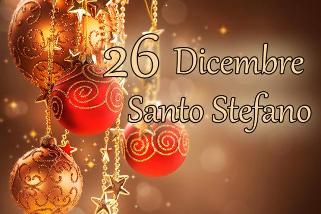 26 dicembre, è la festa di Santo Stefano