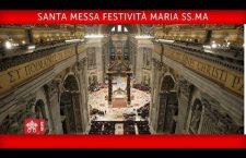 S. Messa di Papa Francesco nella Festa di Maria SS.ma Madre di Dio Lunedì 1 Gennaio 2018 REPLAY TV