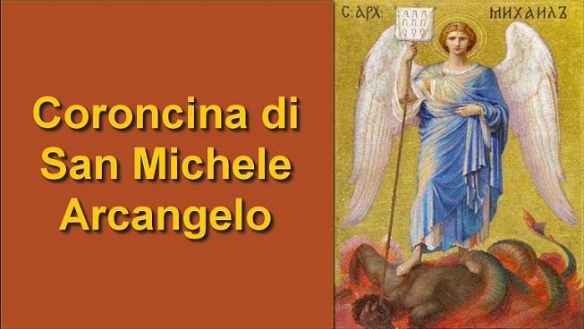 coroncina san michele preghiera notte 8 settembre 2019