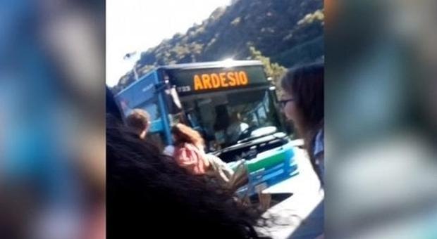 Bergamo scontro fra autobus